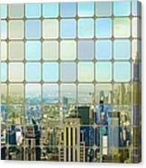 New York Golden Panorama Canvas Print