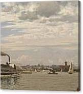 New York Harbor From Bedloe's Island Canvas Print