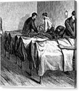 New York: Heatstroke, 1876 Canvas Print