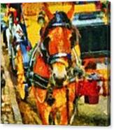 New York Horse And Carriage Canvas Print