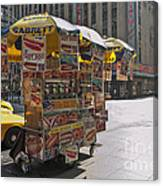New York Hotdog Stand Canvas Print