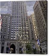 New York In Vertical Panorama Canvas Print
