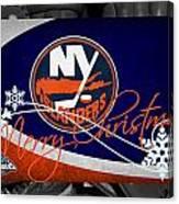New York Islanders Christmas Canvas Print