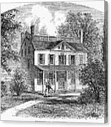 New York: Mansion, 1763 Canvas Print