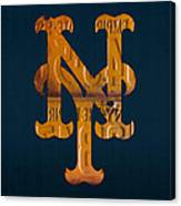 New York Mets Baseball Vintage Logo License Plate Art Canvas Print