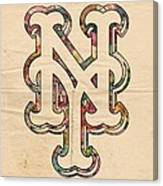 New York Mets Poster Art Canvas Print