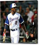 New York Mets V Atlanta Braves Canvas Print