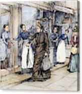 New York Milliner, 1889 Canvas Print