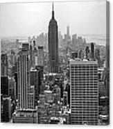 New York Moody Skyline  Canvas Print