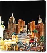 New York New York Hotel And Casino Canvas Print