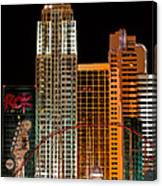 New York-new York Hotel Las Vegas - Pop Art Style Canvas Print
