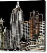 New York New York In Las Vegas Canvas Print