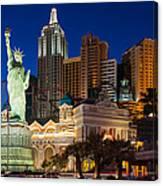 New York New York Las Vegas Canvas Print
