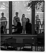 New York New York Shoppers Canvas Print