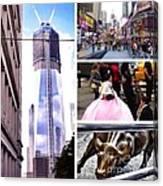 New York Nyc Collage Canvas Print