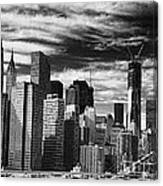 New York Pano Bw I Canvas Print