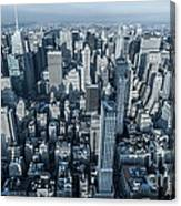 New York Panoramic View From Empire Canvas Print