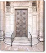 New York Public Library Entrance I Canvas Print