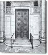 New York Public Library Entrance II Canvas Print