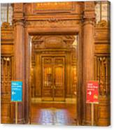 New York Public Library Main Reading Room Entrance I Canvas Print