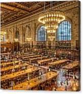 New York Public Library Main Reading Room Ix Canvas Print