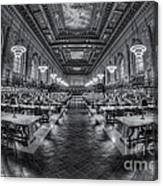 New York Public Library Main Reading Room Viii Canvas Print
