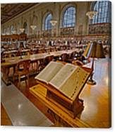New York Public Library Rose Main Reading Room  Canvas Print