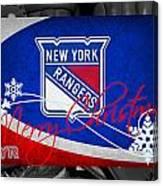 New York Rangers Christmas Canvas Print