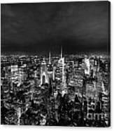 New York Skyline 3bw Canvas Print