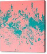 New York Skyline Paint Splash Canvas Print