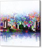 New York Skyline Splats 2 Canvas Print