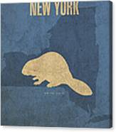 New York State Facts Minimalist Movie Poster Art  Canvas Print