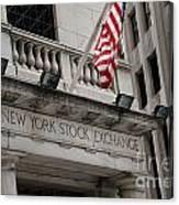 New York Stock Exchange Building Canvas Print