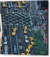 New York Taxi Rush Hour Canvas Print