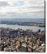 New York View Towards Jersey Canvas Print