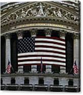 New York - Wall Street Panoramic Canvas Print