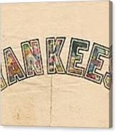 New York Yankees Poster Art Canvas Print