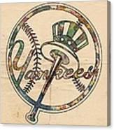 New York Yankees Poster Vintage Canvas Print