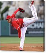 New York Yankees V Los Angeles Angels Canvas Print