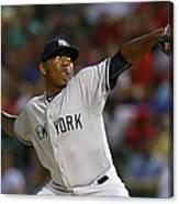 New York Yankees V Texas Rangers Canvas Print