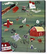 New Yorker August 21st, 1937 Canvas Print