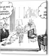 New Yorker December 30th, 1985 Canvas Print