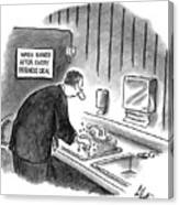 New Yorker January 19th, 1998 Canvas Print