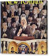 New Yorker January 25th, 1993 Canvas Print