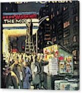 New Yorker November 22nd, 1958 Canvas Print