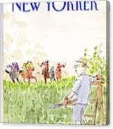 New Yorker September 21st, 1987 Canvas Print