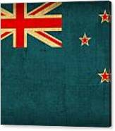 New Zealand Flag Vintage Distressed Finish Canvas Print