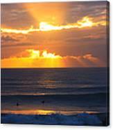 New Zealand Surfing Sunset Canvas Print
