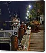 Newburyport Docks Full Moon Canvas Print