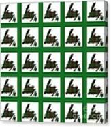 Newfoundland Tartan Map Blocks Green Trim Canvas Print